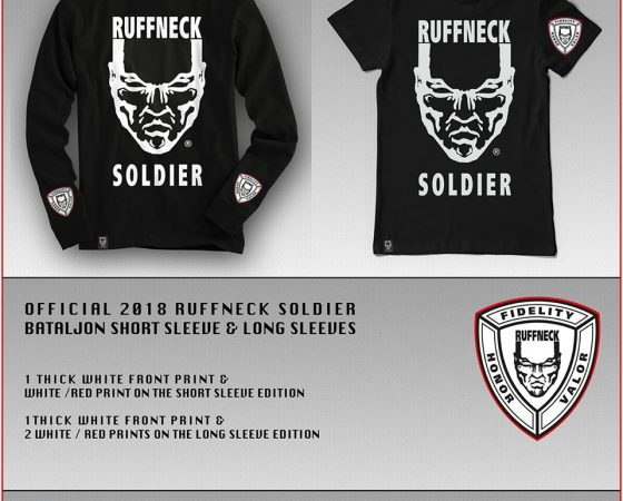 Official Ruffneck Soldier 2018 shirts have arrived!